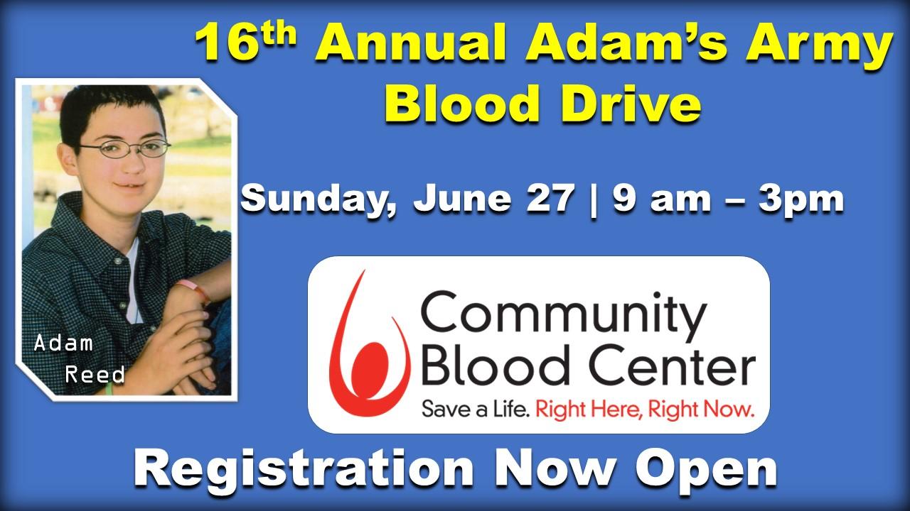 Adam's Army Blood Drive